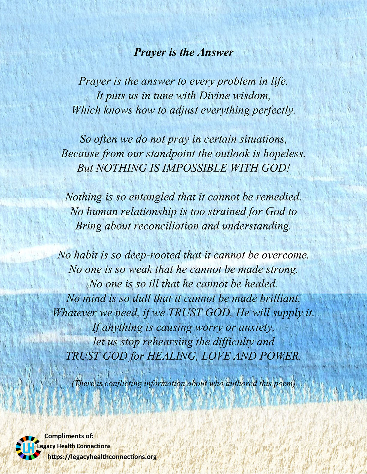 Poem - Prayer Answer