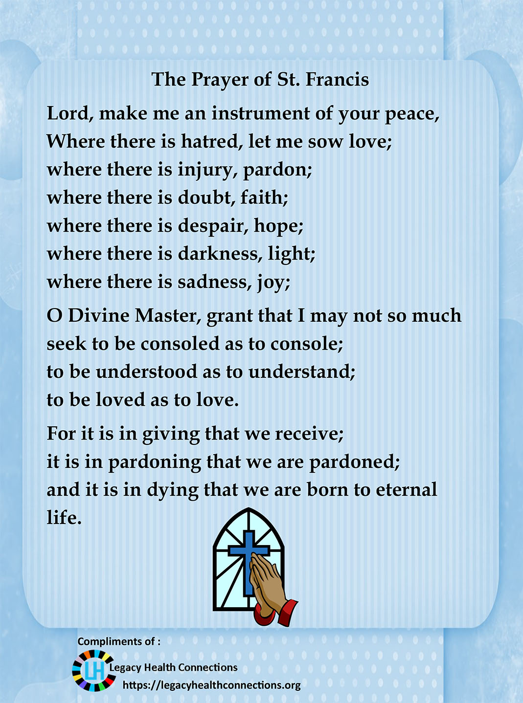 Poem - Prayer St Francis
